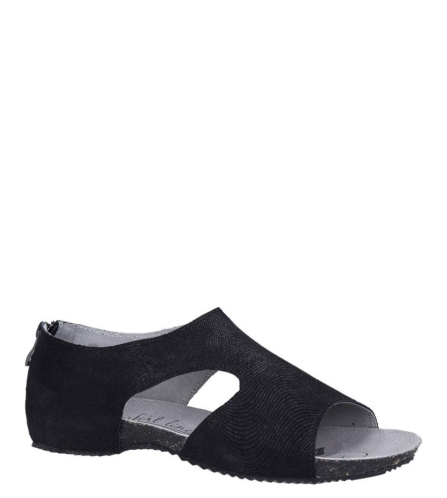 7a36f32edc24 ... Czarne sandały skórzane z zakrytą piętą Casu DS071 19BK