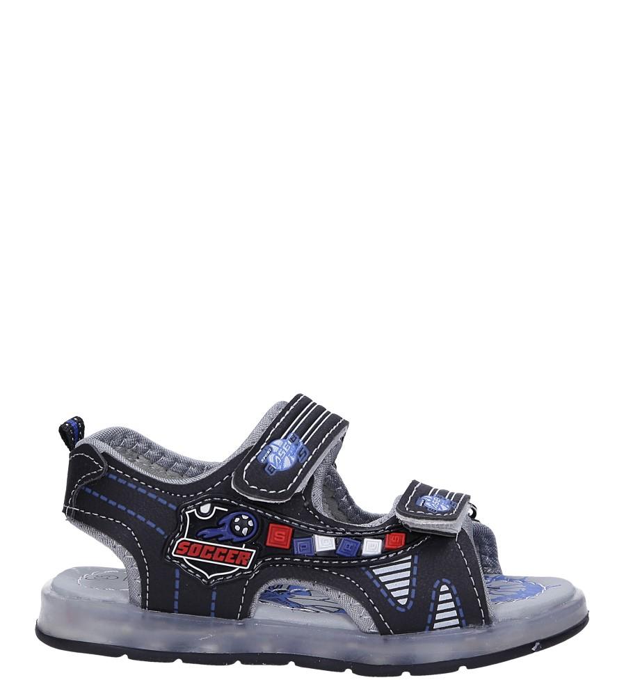 Czarne sandały na rzep Casu 58011