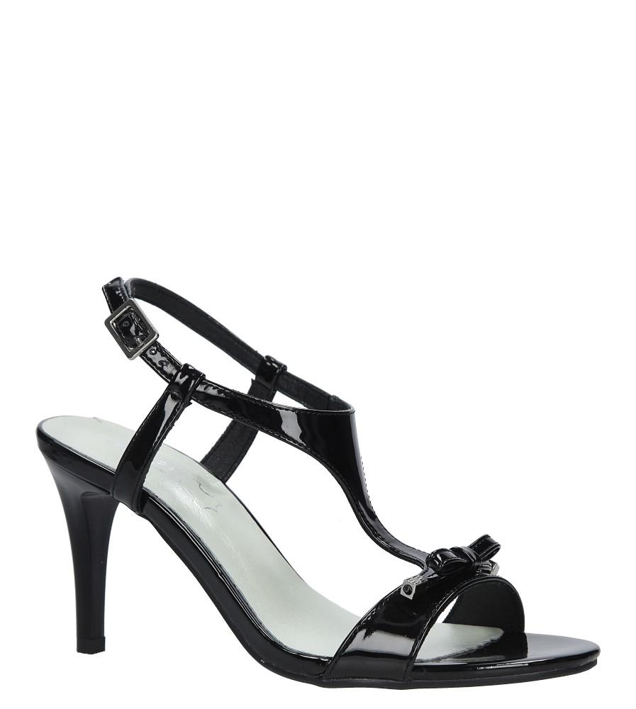Czarne sandały szpilki lakierowane Jezzi SA124-1 producent Jezzi