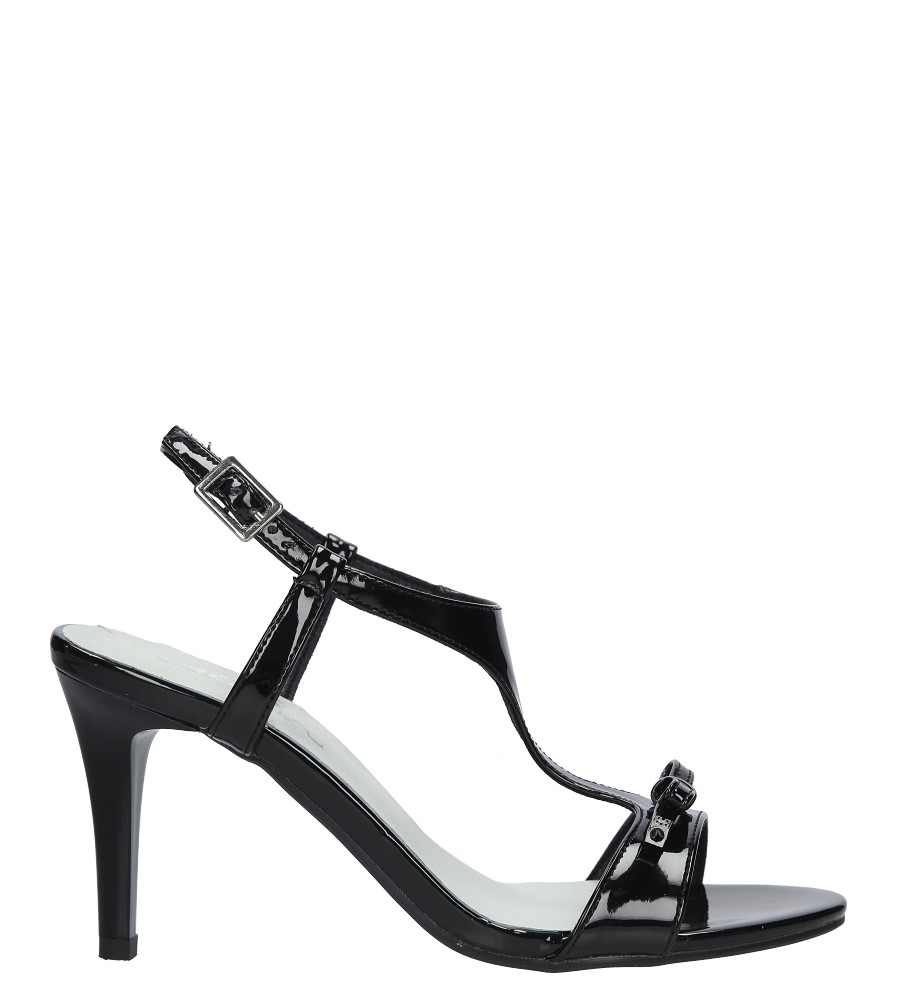 Czarne sandały szpilki lakierowane Jezzi SA124-1 sezon Lato