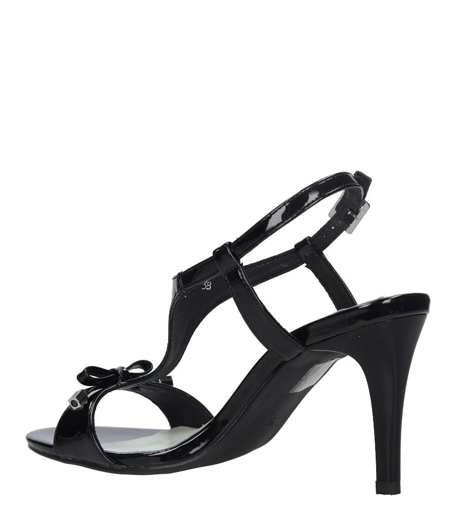 Czarne sandały szpilki lakierowane Jezzi SA124-1 wysokosc_obcasa 9.5 cm