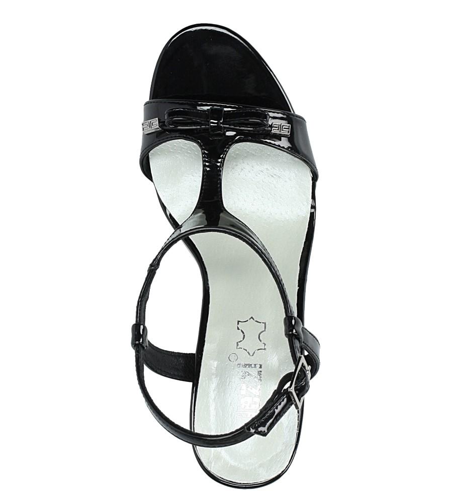 Czarne sandały szpilki lakierowane Jezzi SA124-1 wysokosc_platformy 0.5 cm