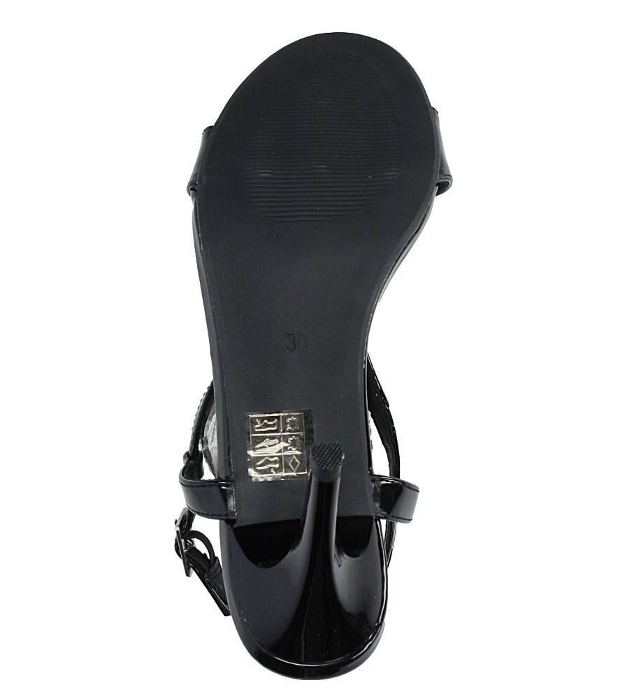 Czarne sandały szpilki lakierowane Jezzi SA124-1 wys_calkowita_buta 15 cm