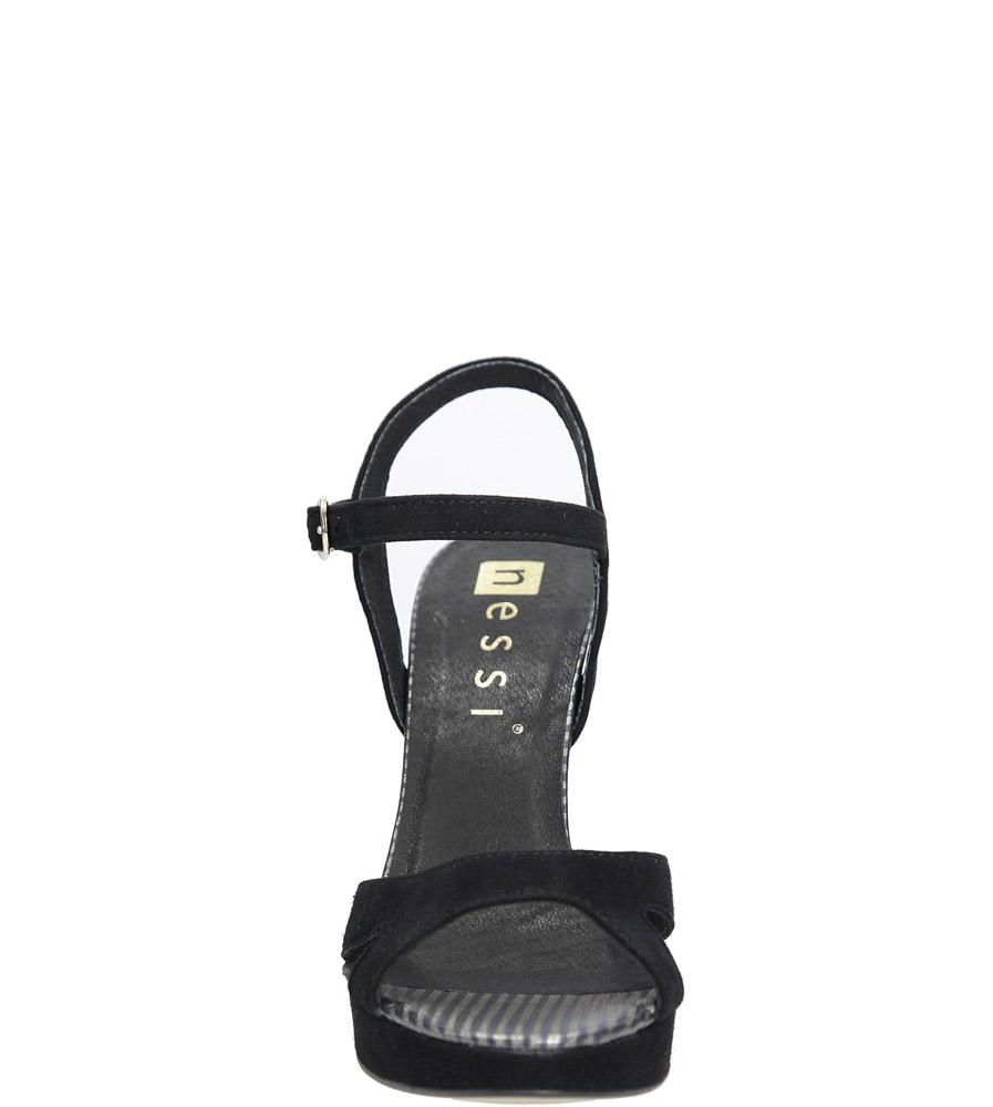 Czarne sandały szpilki skórzane Nessi 18384 kolor czarny