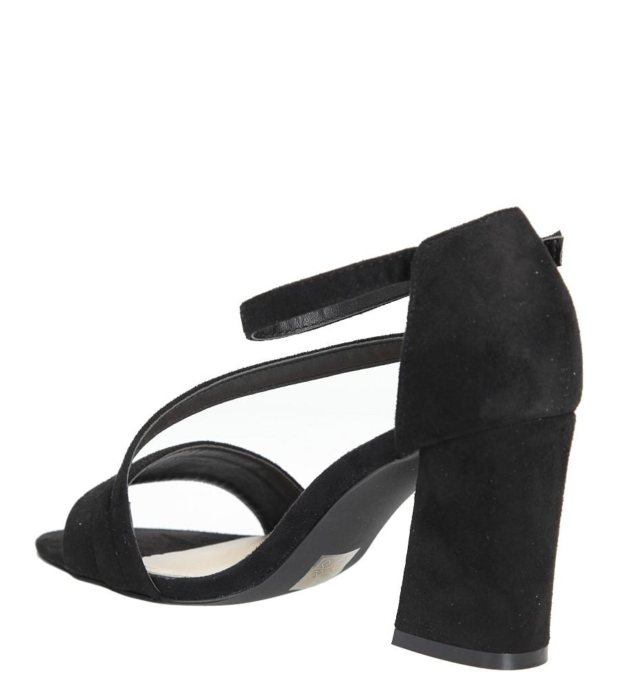 0f17e51eb19b8 ... Czarne sandały z paskiem na szerokim obcasie Sergio Leone SK821-01M  wysokosc_obcasa 8.5 cm ...