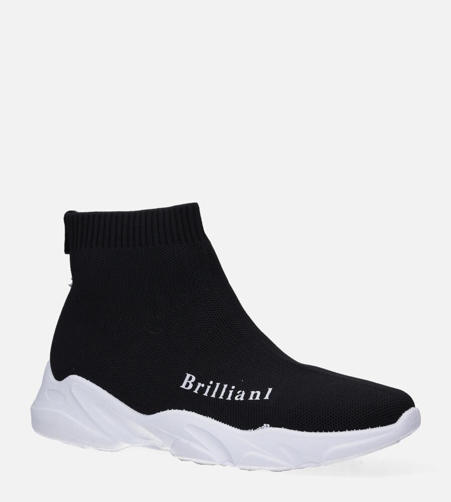 Czarne skarpetkowe buty sportowe Casu 801 czarny