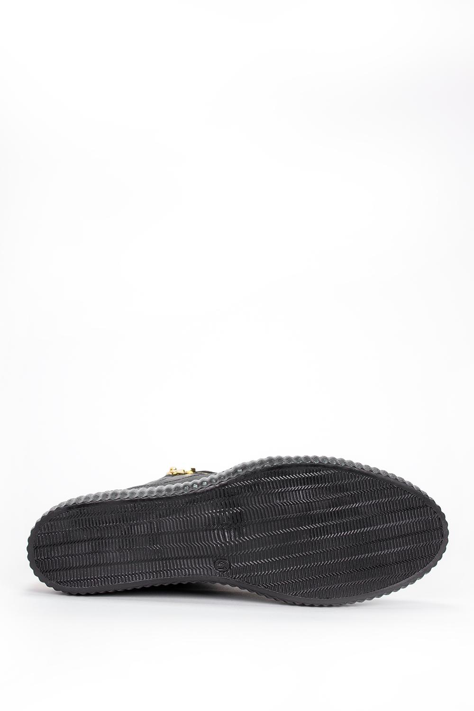 Czarne sneakersy Casu na ukrytym koturnie polska skóra 2351 wierzch skóra naturalna - licowa