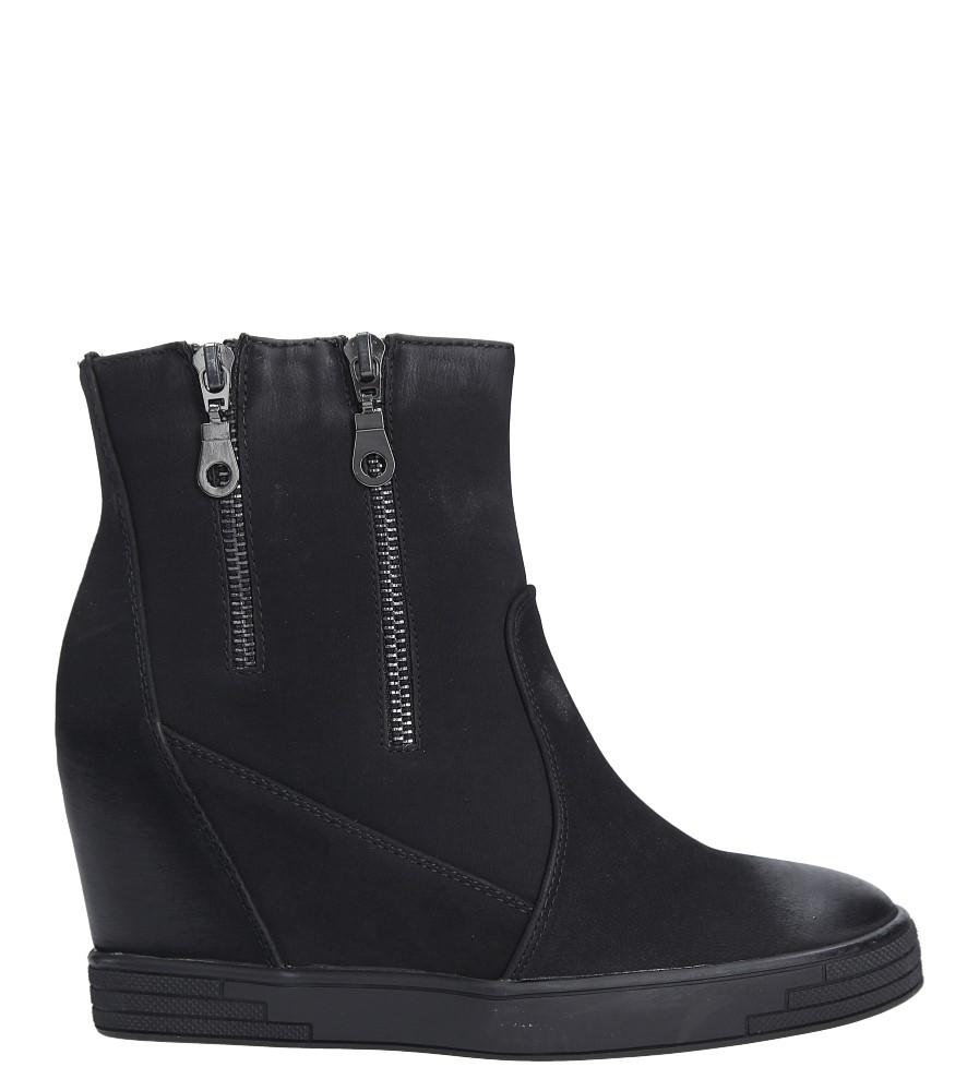 Czarne sneakersy na koturnie z ozdobnymi suwakami Sergio Leone 28354 wysokosc_platformy 2 cm