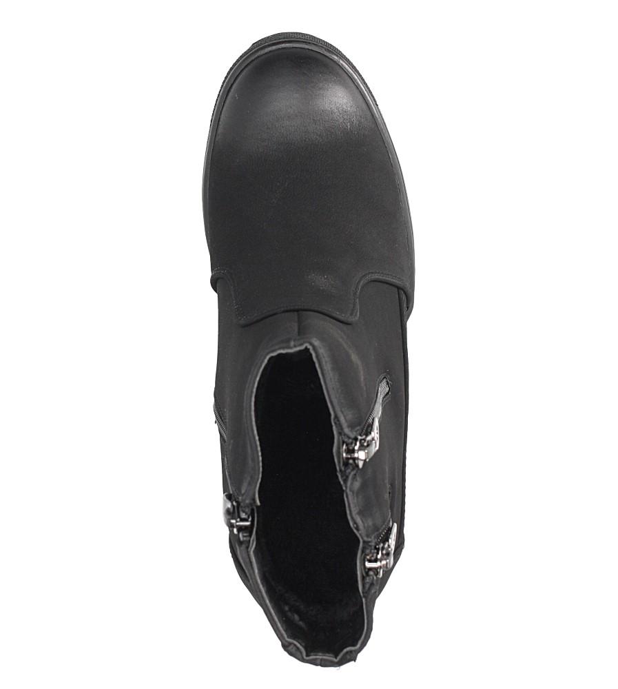 Czarne sneakersy na koturnie z ozdobnymi suwakami Sergio Leone 28354 obwod_cholewki_u_gory 26 cm