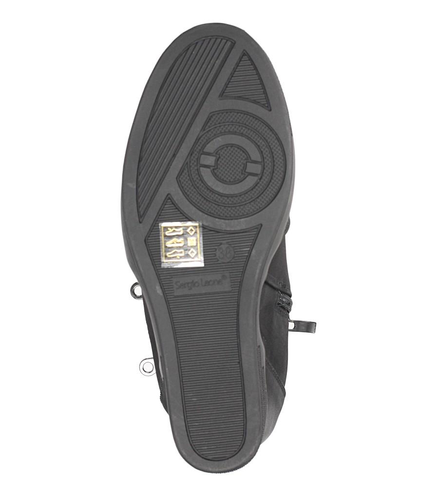 Czarne sneakersy na koturnie z ozdobnymi suwakami Sergio Leone 28354 obwod_w_kostce 27 cm