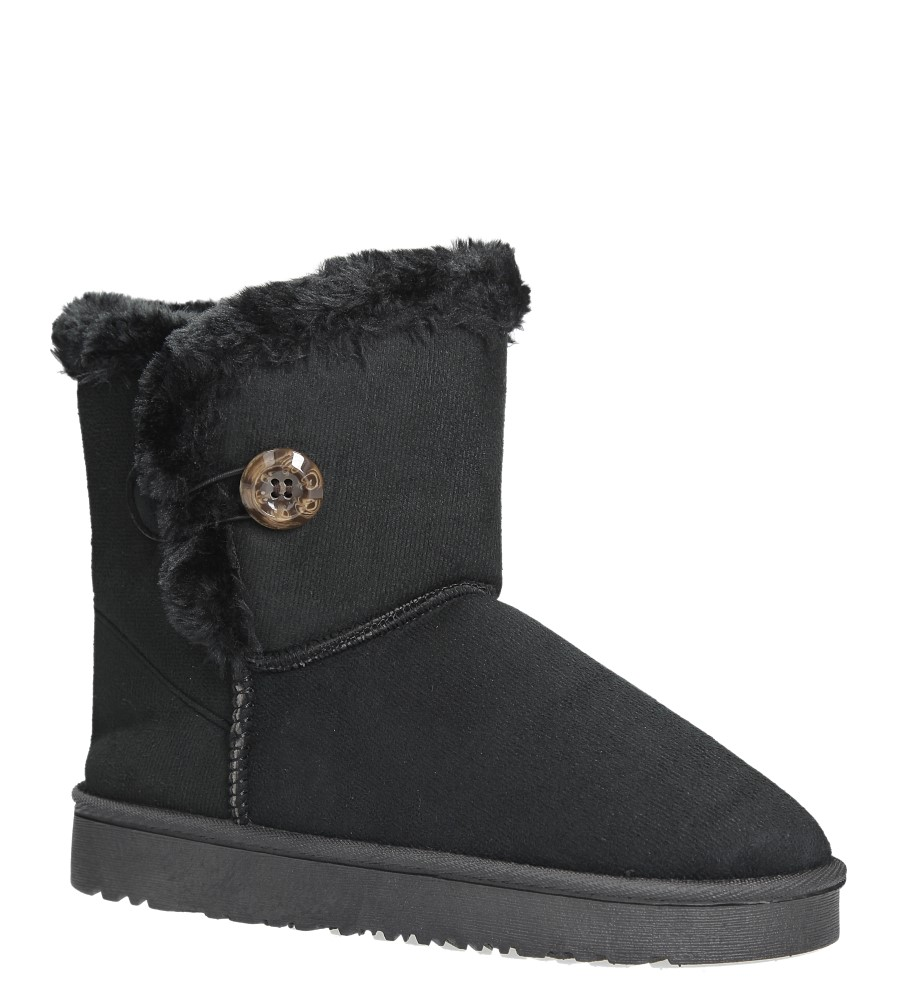 Czarne śniegowce z futerkiem emu Casu 703
