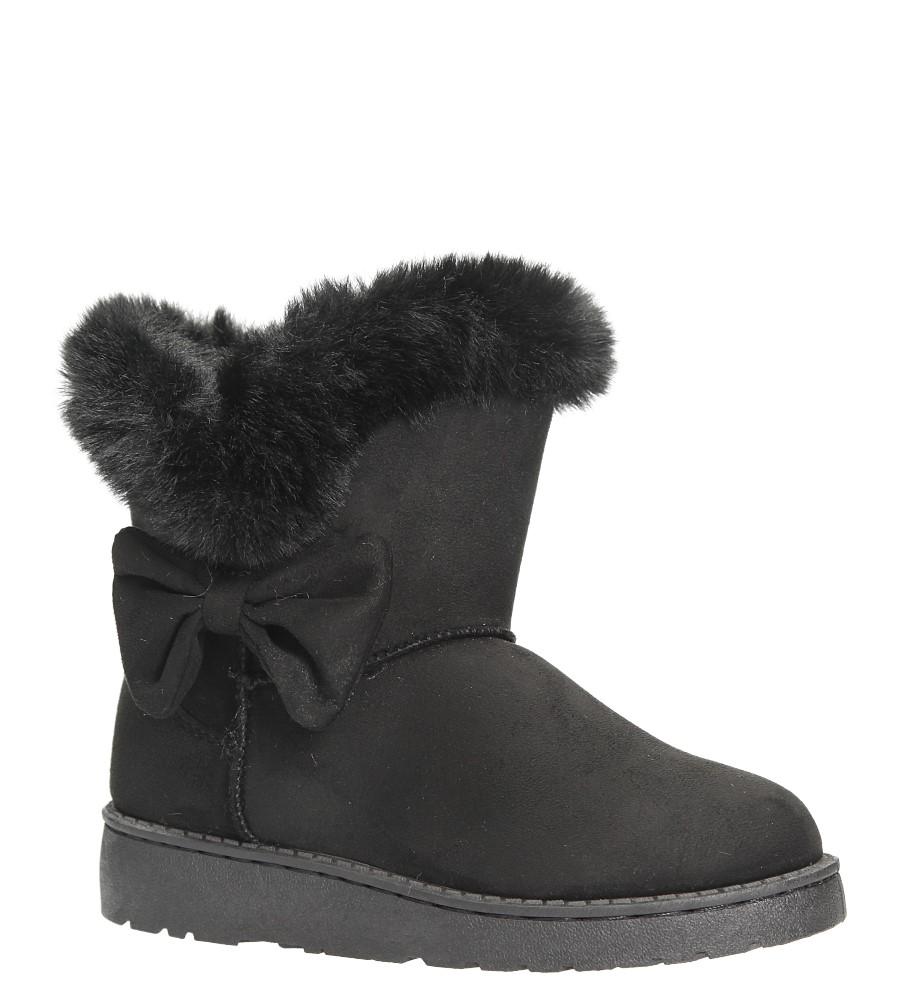 Czarne śniegowce z futerkiem i kokardą Casu 633-1