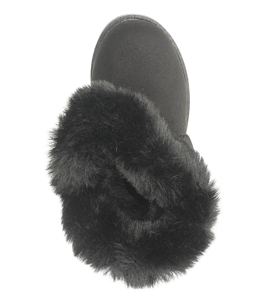 Czarne śniegowce z futerkiem i kokardą Casu 633 kolor czarny