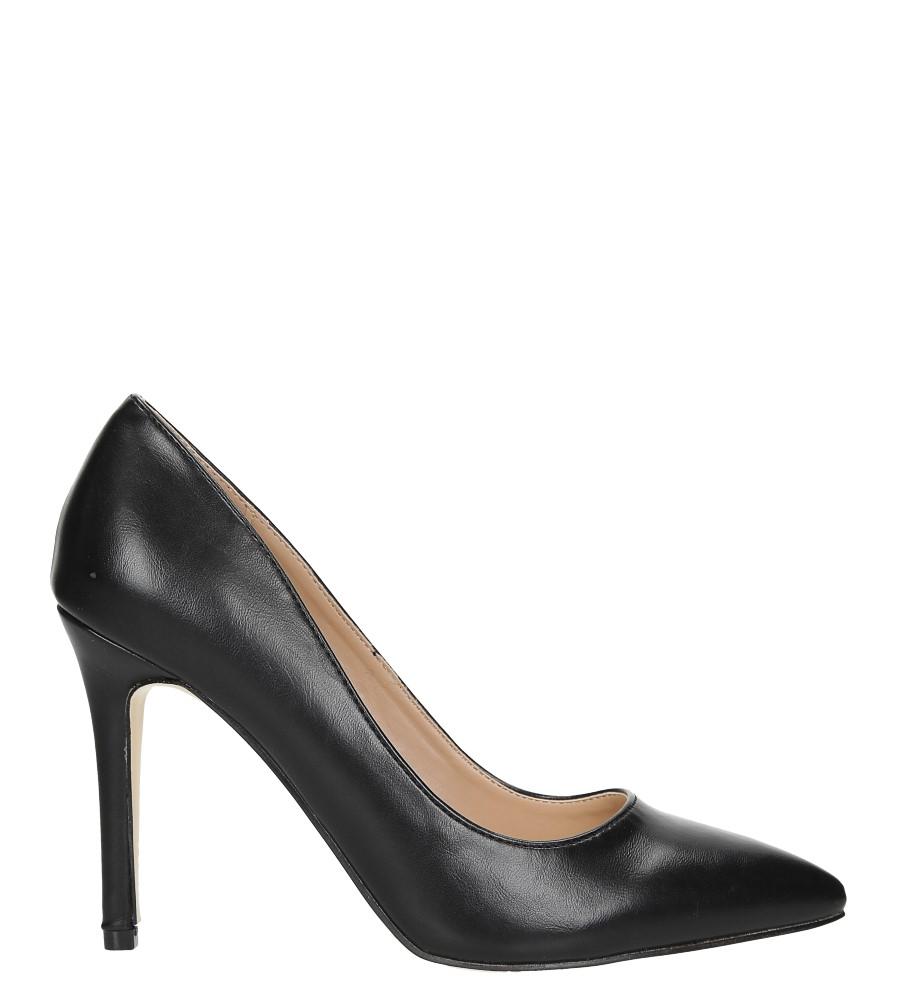 Czarne szpilki czółenka ze skórzaną wkładką Casu N189X6/B wys_calkowita_buta 16.5 cm