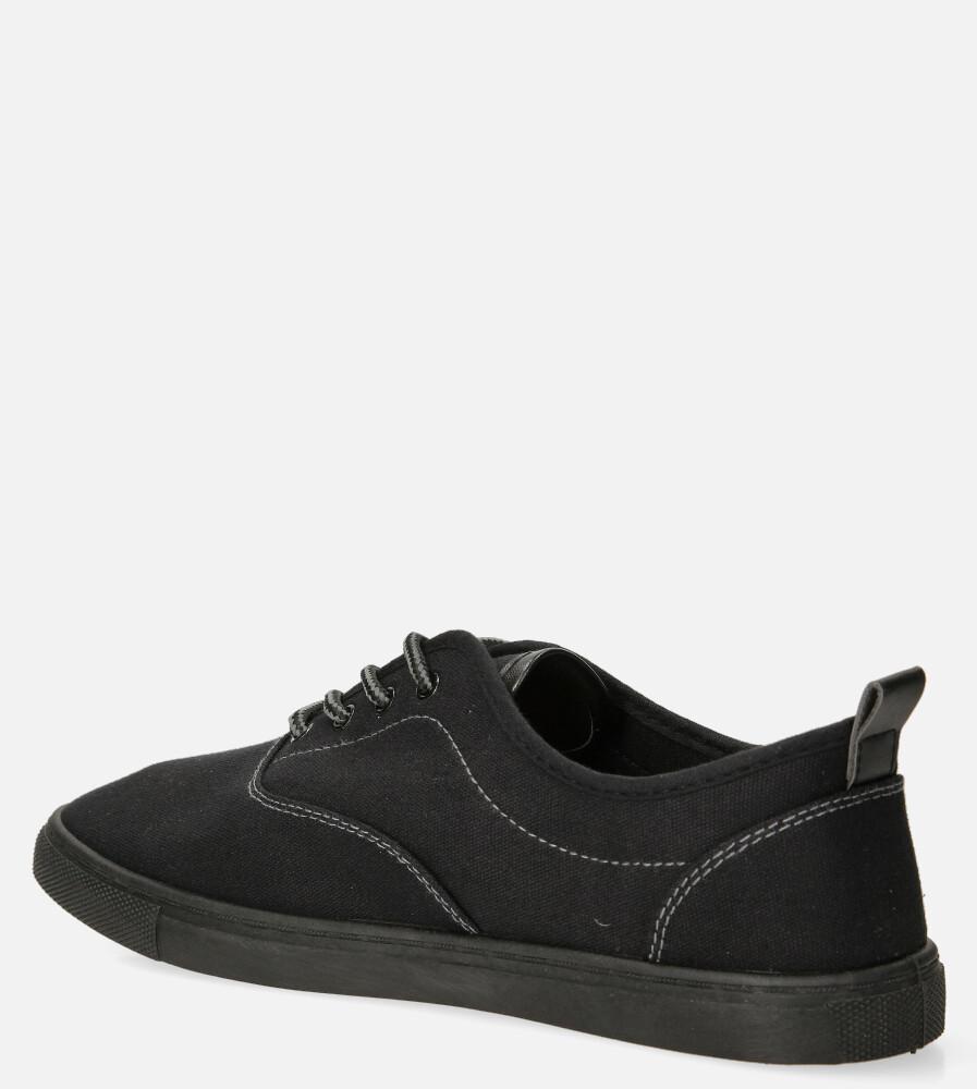 Czarne trampki sznurowane Casu 9010 kolor czarny
