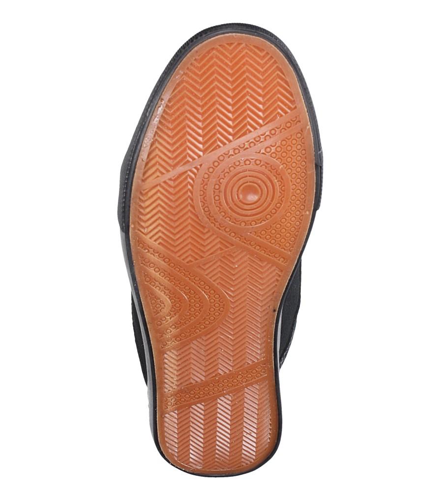 Czarne trampki sznurowane Casu WQ805 wierzch materiał/skóra ekologiczna