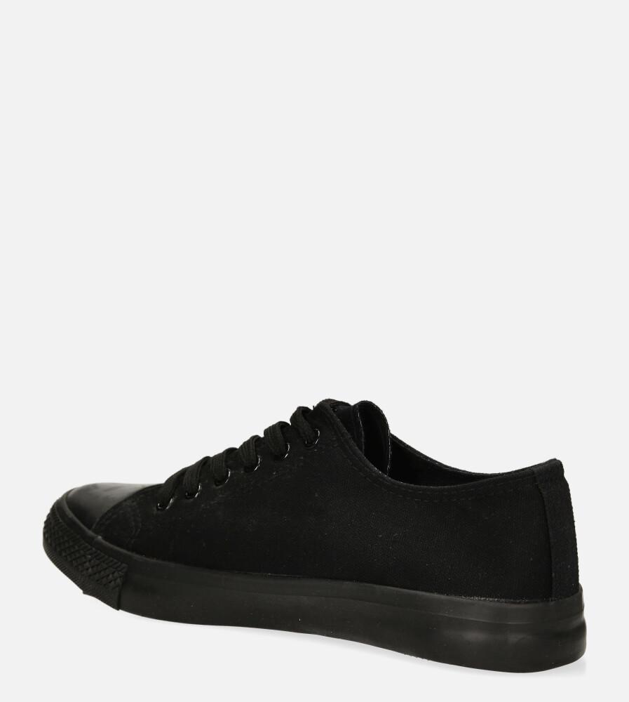 Czarne trampki sznurowane Casu XB01 kolor czarny