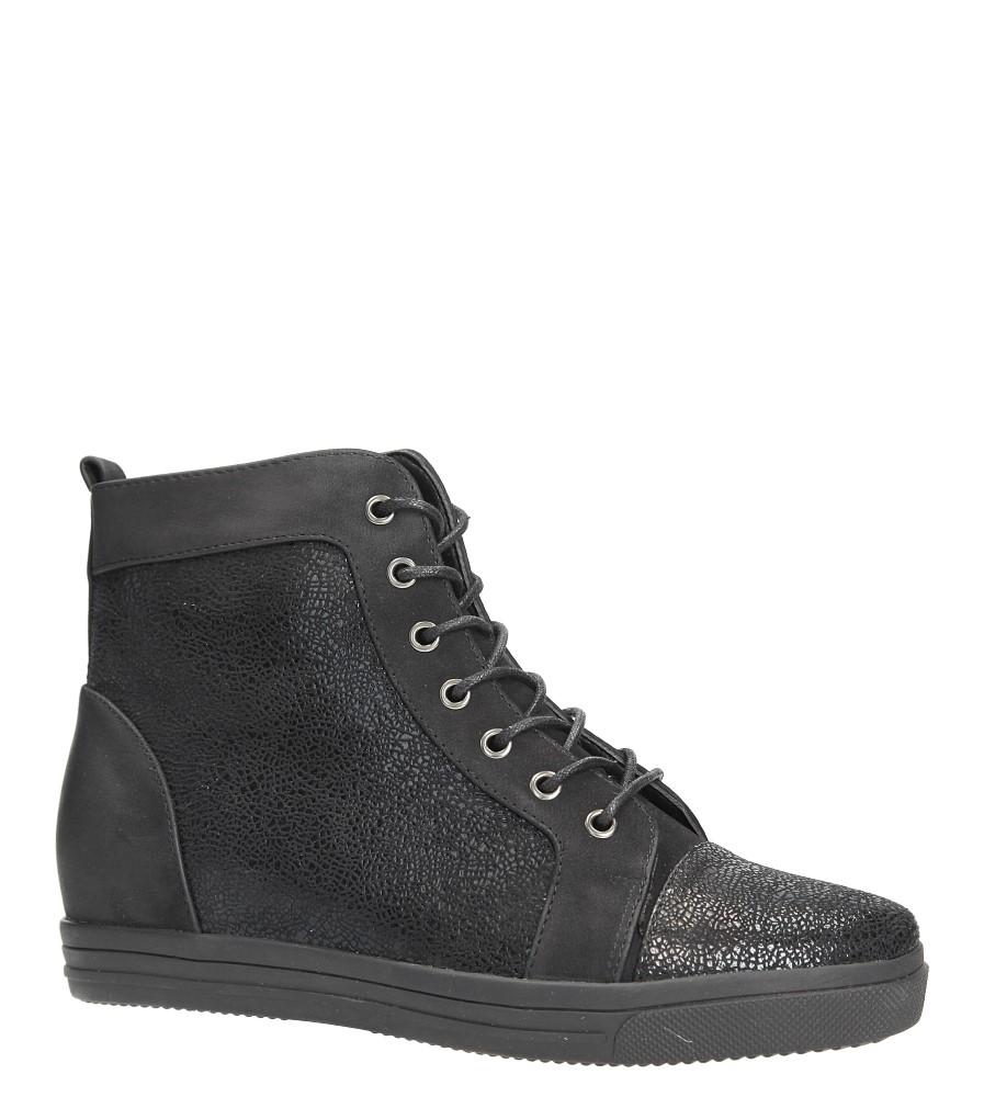 Czarne trzewiki sneakersy sznurowane Sergio Leone 33192