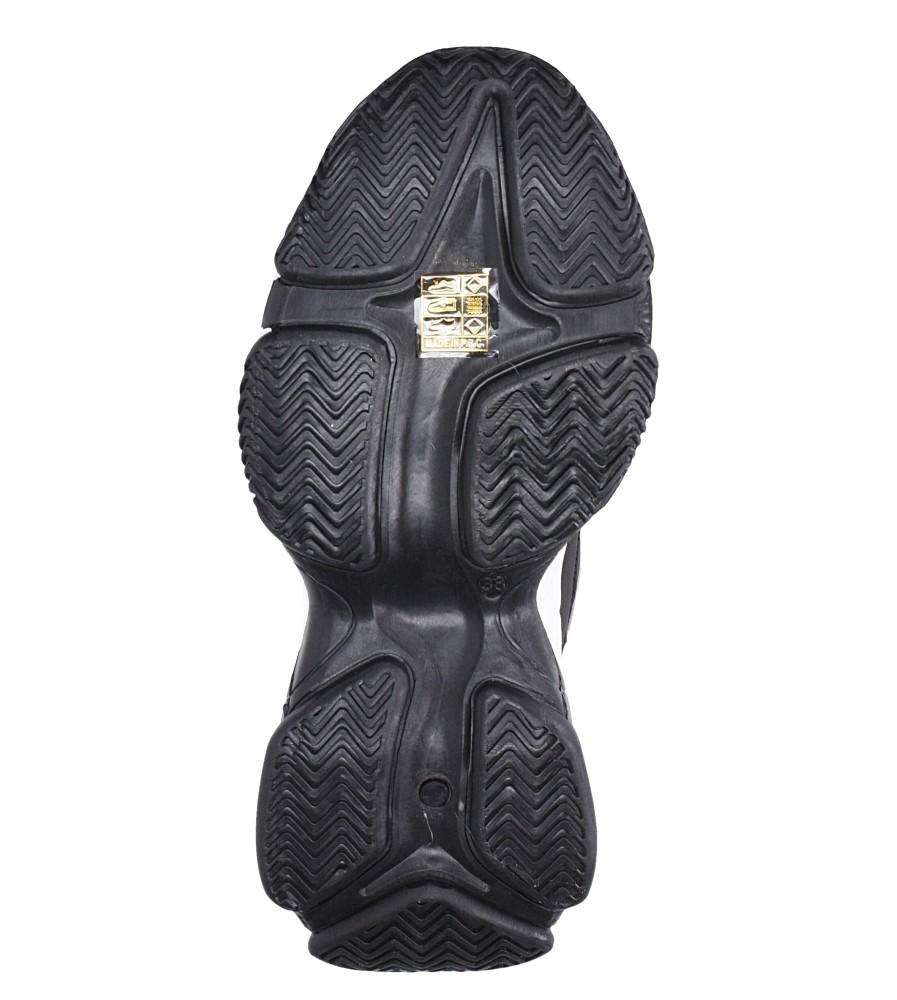 Czarne trzewiki sznurowane Casu DS13005 wkladka materiał