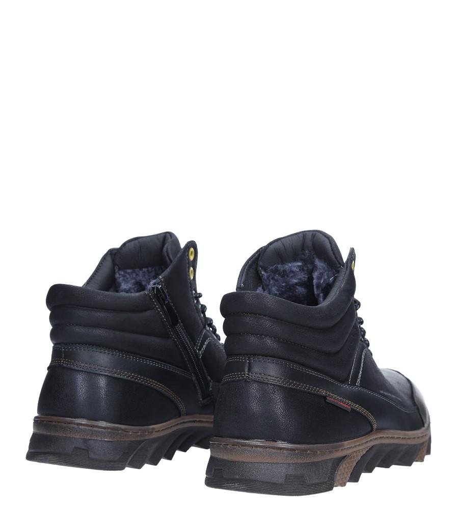 Czarne trzewiki sznurowane Casu HL701 kolor czarny