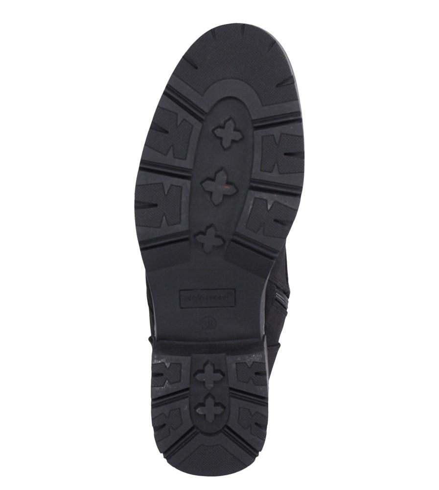 Czarne trzewiki z ozdobnym sznurowaniem Sergio Leone TR718 wkladka futerko