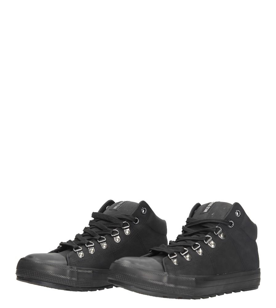 Czarne wysokie trampki sznurowane Big Star BB174175 kolor czarny
