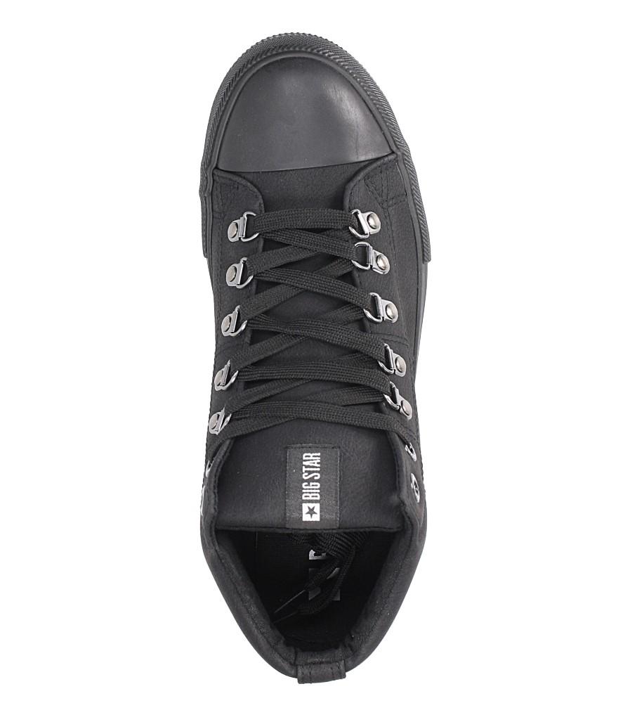 Czarne wysokie trampki sznurowane Big Star BB174175 wys_calkowita_buta 11 cm