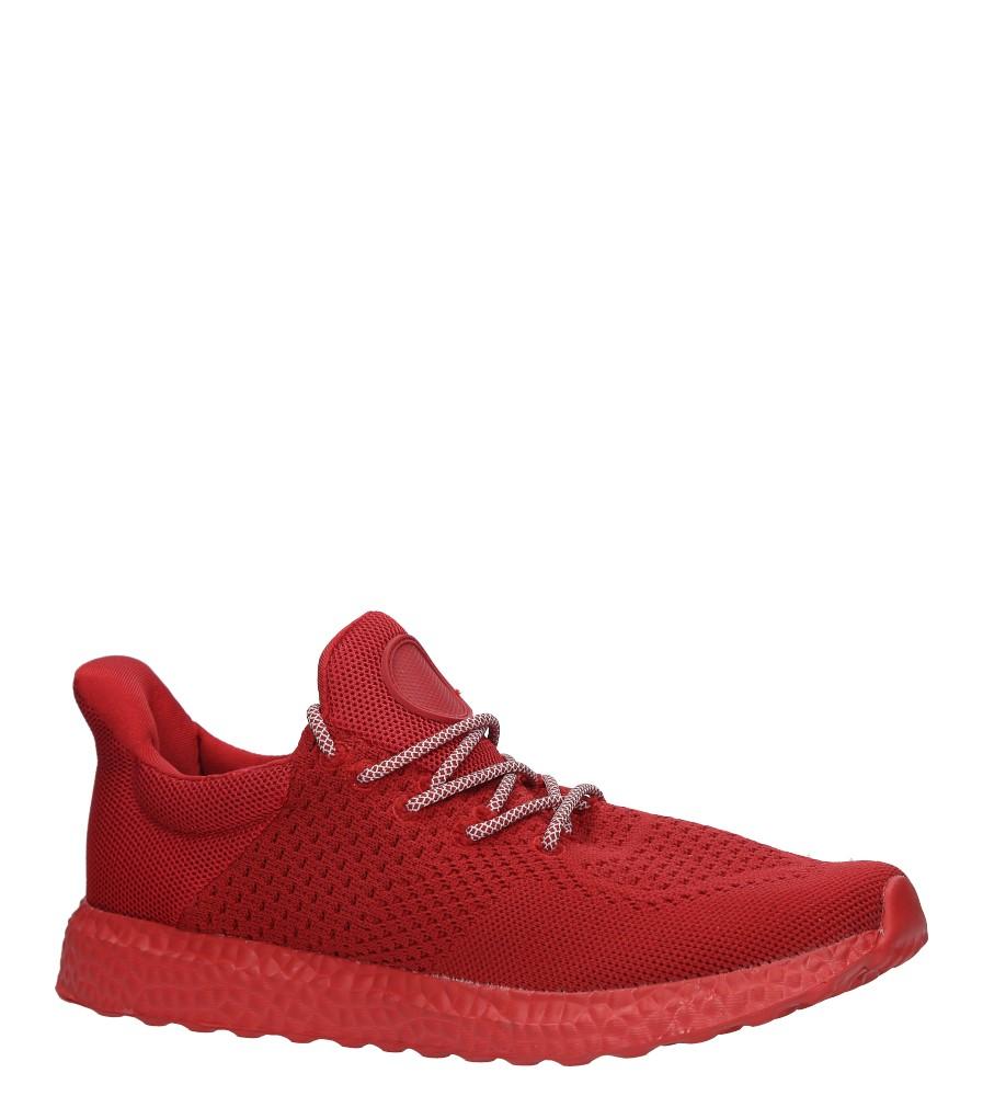 Czerwone buty sportowe sznurowane Casu WH28-5