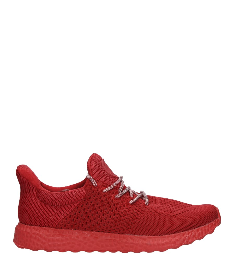 Czarwone buty sportowe sznurowane Casu WH28-5