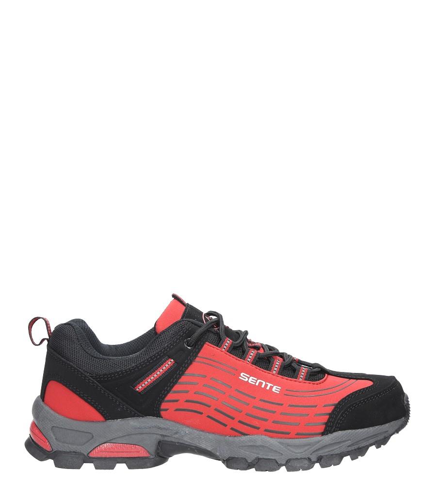Czerwone buty sportowe sznurowane softshell Casu A1528-4