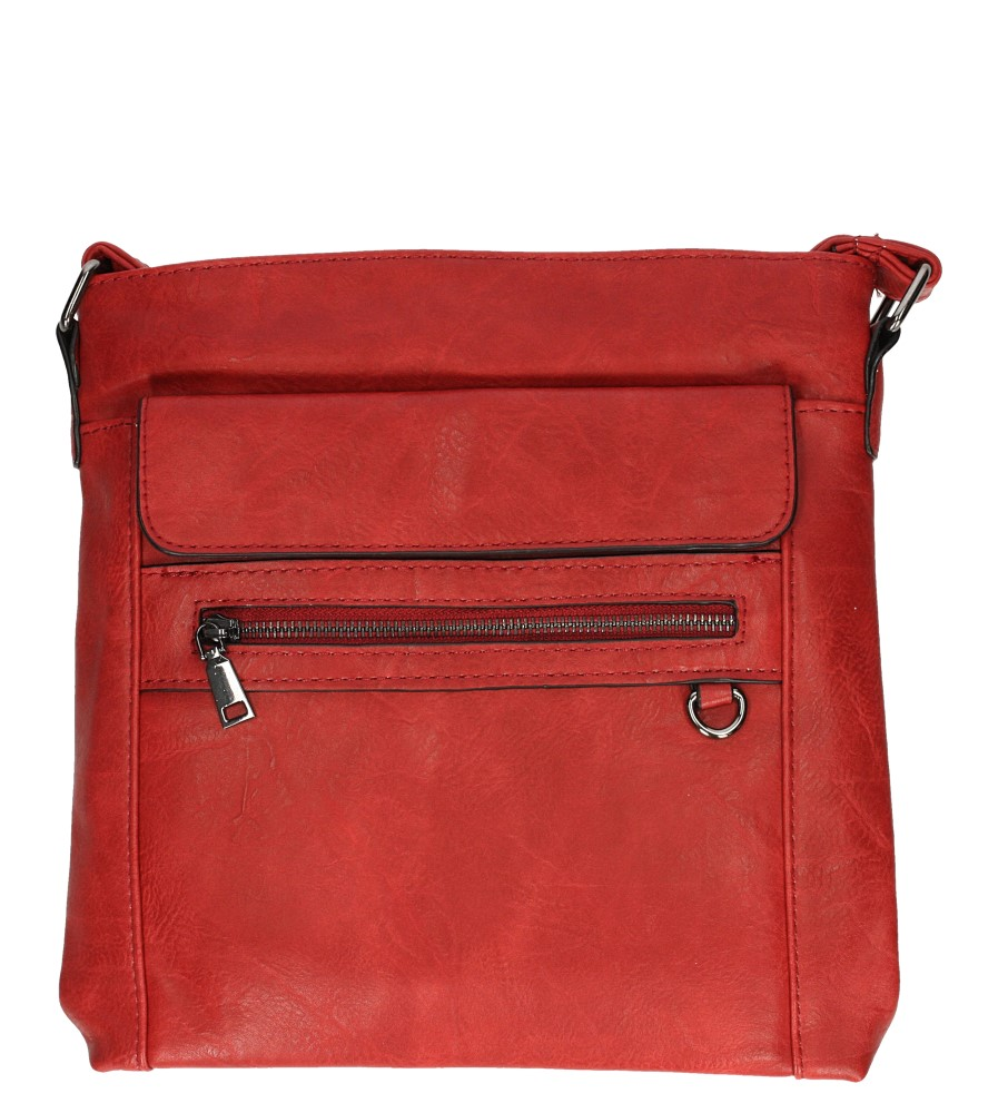 Czerwona torebka listonoszka Casu D91