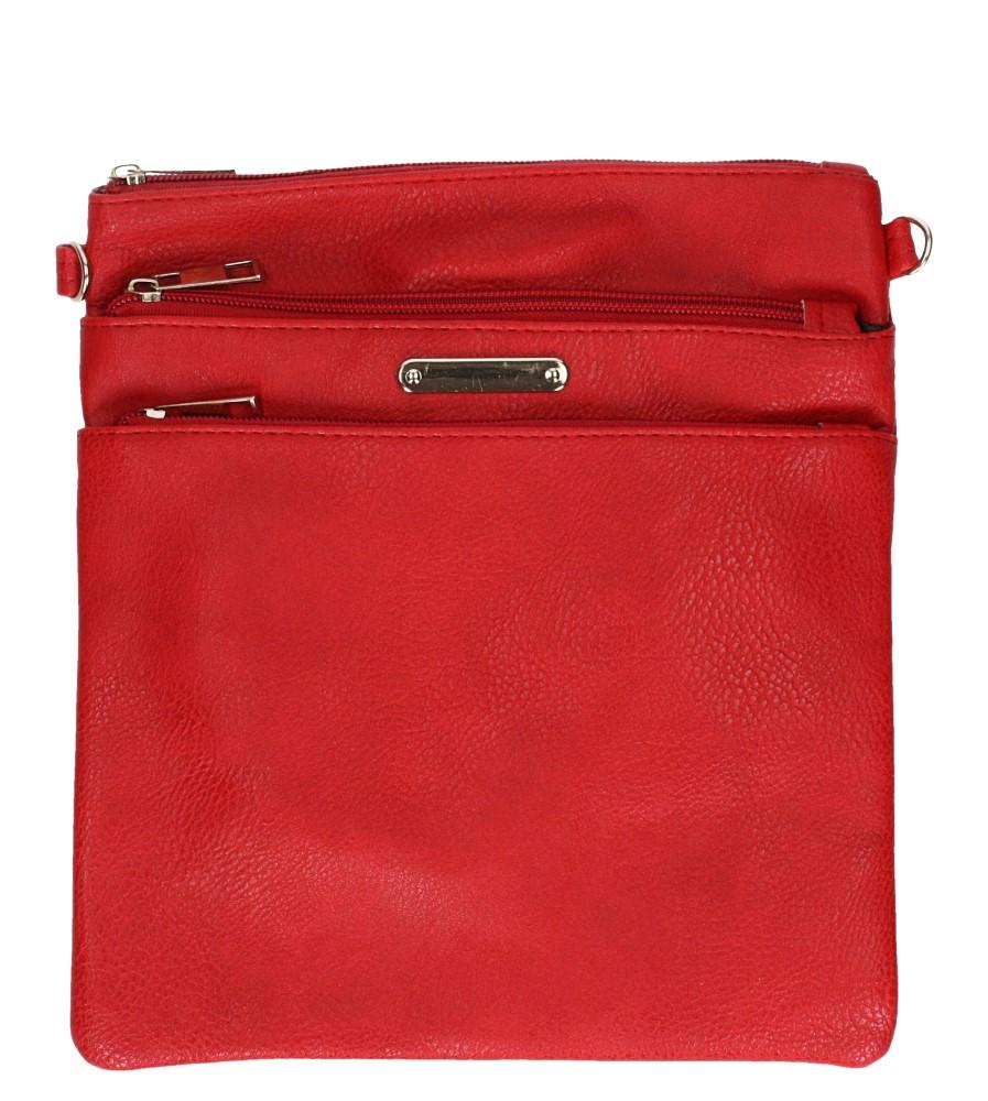 Czerwona torebka listonoszka z kieszonką z przodu Casu AD-104