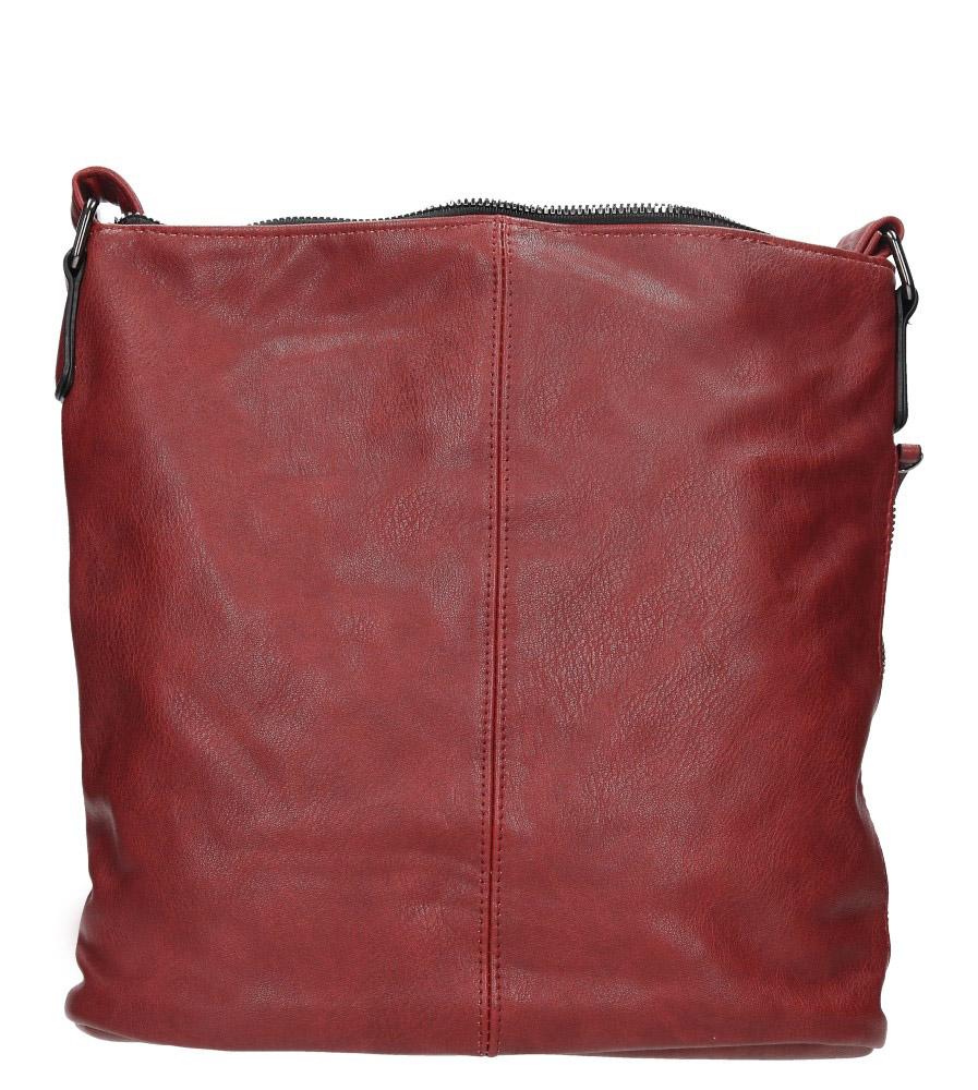 Czerwona torebka listonoszka z metalową ozdobą Casu 7719