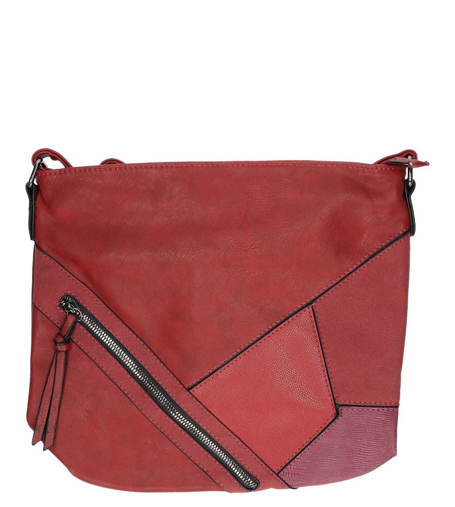 Czerwona torebka listonoszka z ozdobnymi suwakami Casu 1018