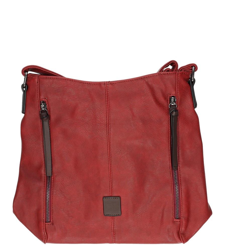 Czerwona torebka listonoszka z ozdobnymi suwakami Casu 8172