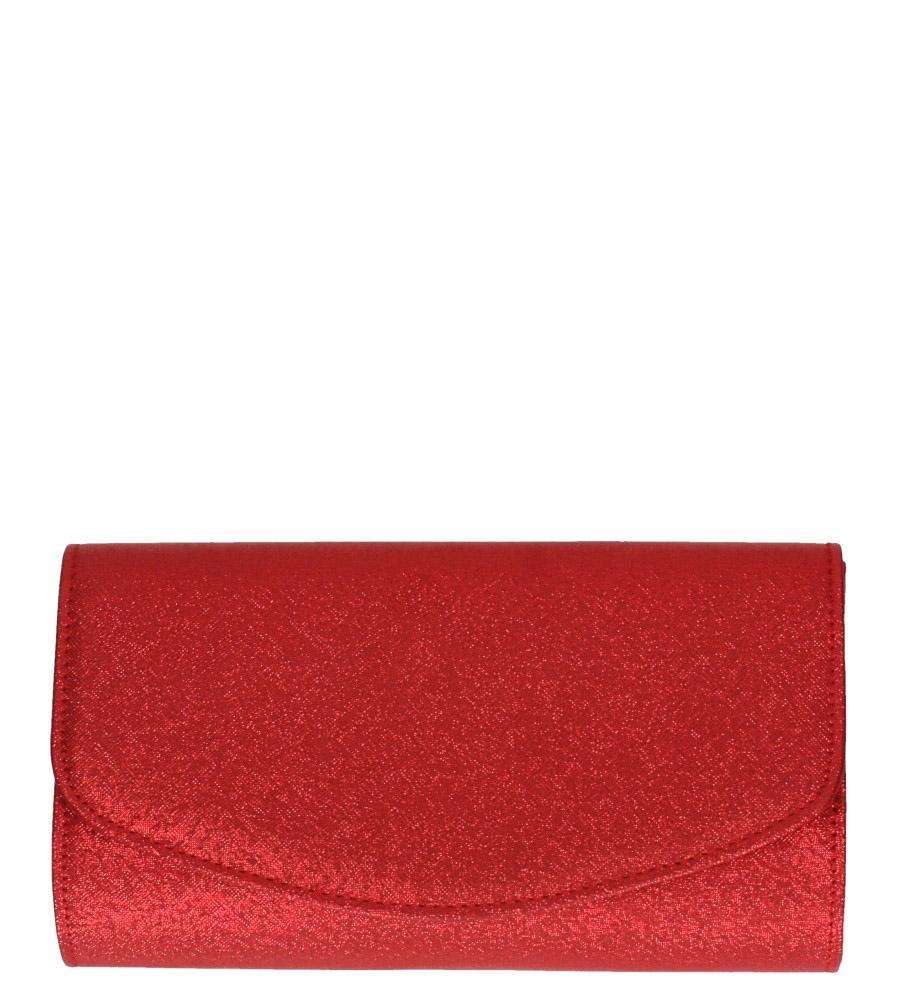Czerwona torebka wizytowa błyszcząca na łańcuszku Casu AD-81