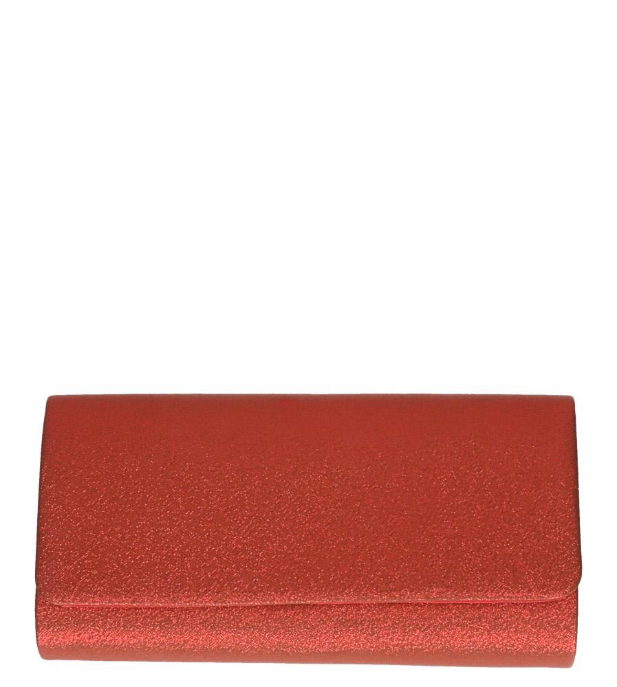 Czerwona torebka wizytowa brokatowa na łańcuszku Casu AF-123