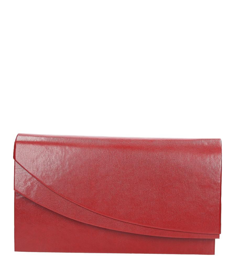 Czerwona torebka wizytowa Casu M01A
