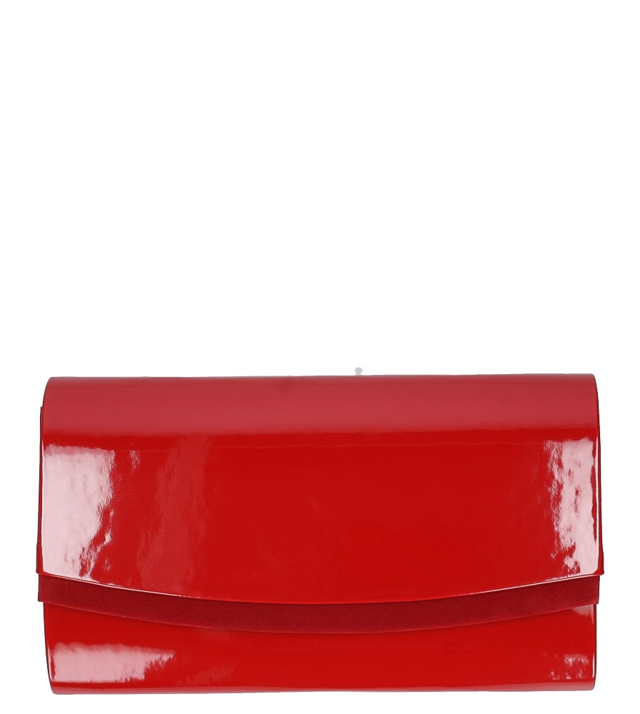 Czerwona torebka wizytowa lakierowana Casu R-2D