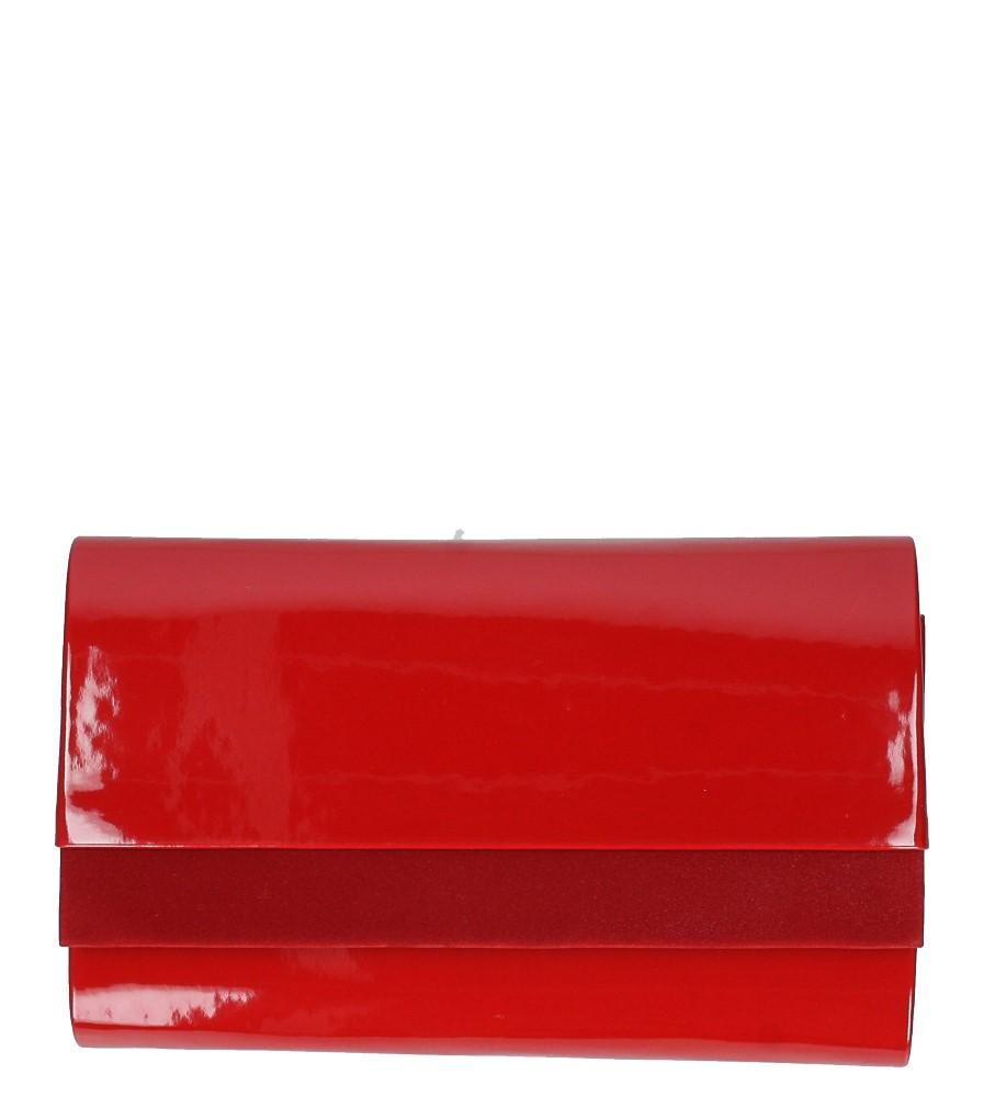 Czerwona torebka wizytowa lakierowana Casu R20A