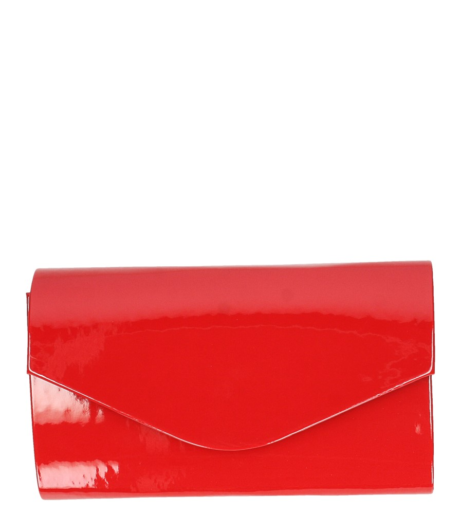 Czerwona torebka wizytowa lakierowana Casu R20B