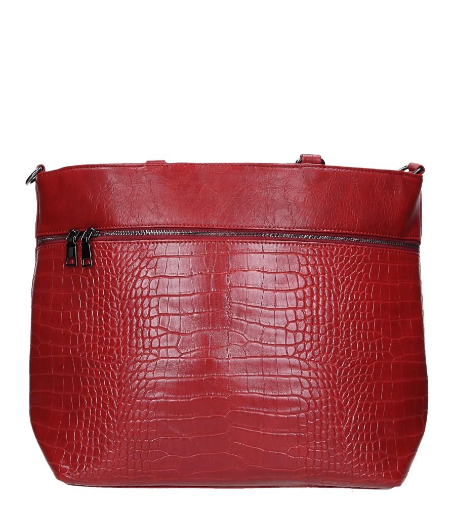Czerwona torebka z kieszonką z przodu Casu AG-19
