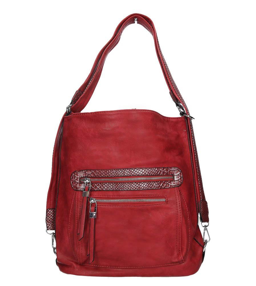 Czerwona torebka z kieszonką z przodu Casu D128