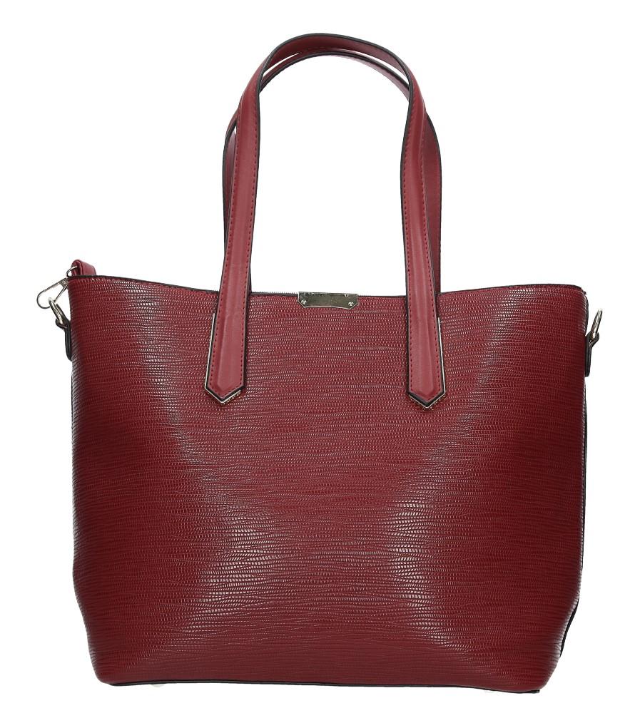 Czerwona torebka z metalową ozdobą Casu D-901