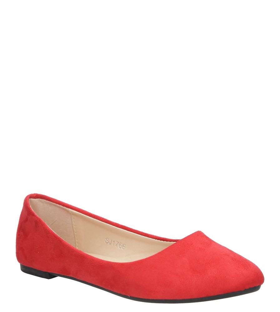 Czerwone baleriny Casu SJ1766-3