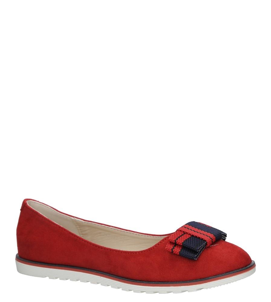 Czerwone baleriny z kokardą Casu 6213-19