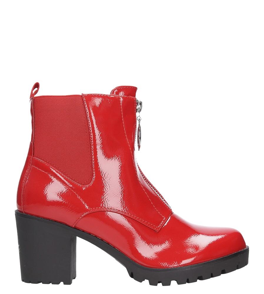 Czerwone botki na słupku z ozdobnym suwakiem Casu 7-X8039B wys_calkowita_buta 1 cm