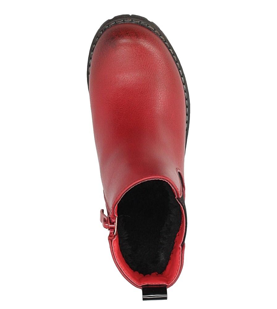 Czerwone botki Sergio Leone DZ025 kolor czerwony
