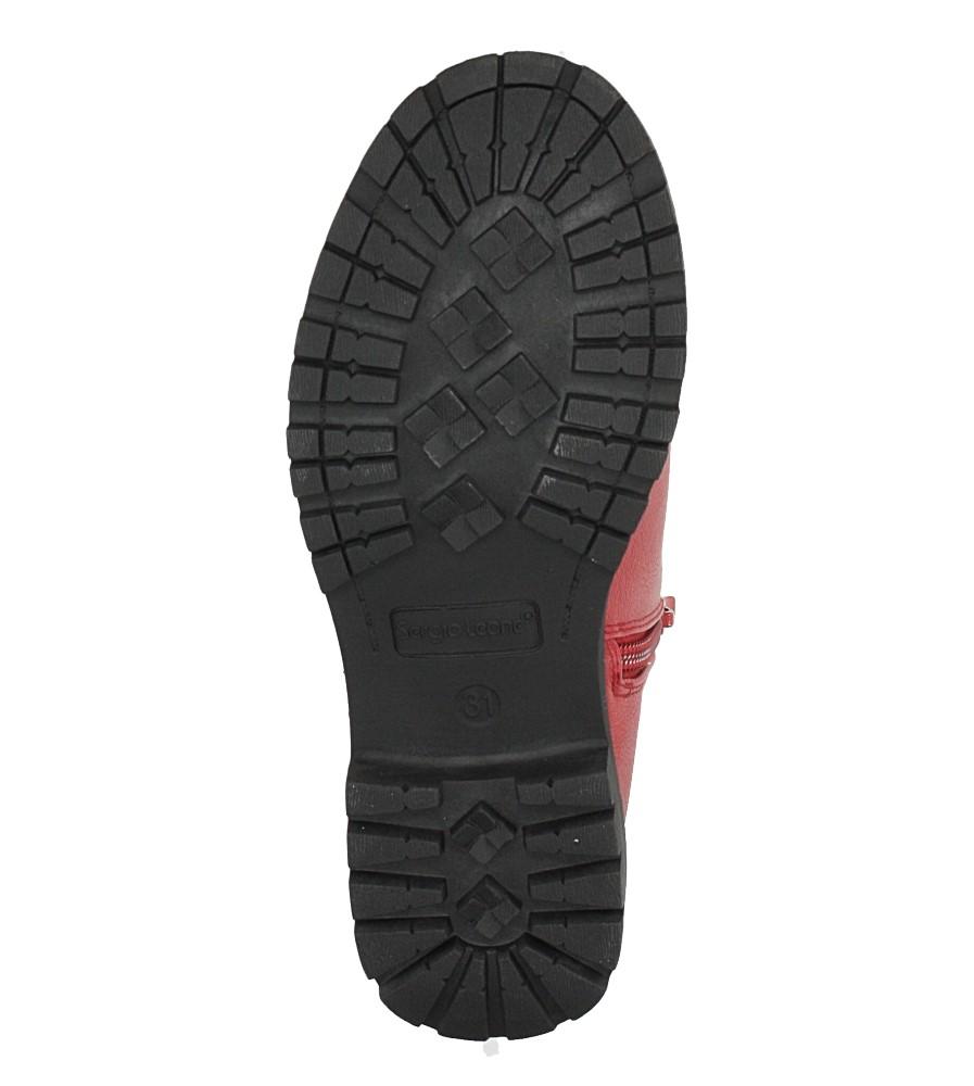 Czerwone botki Sergio Leone DZ025 wysokosc_obcasa 3 cm