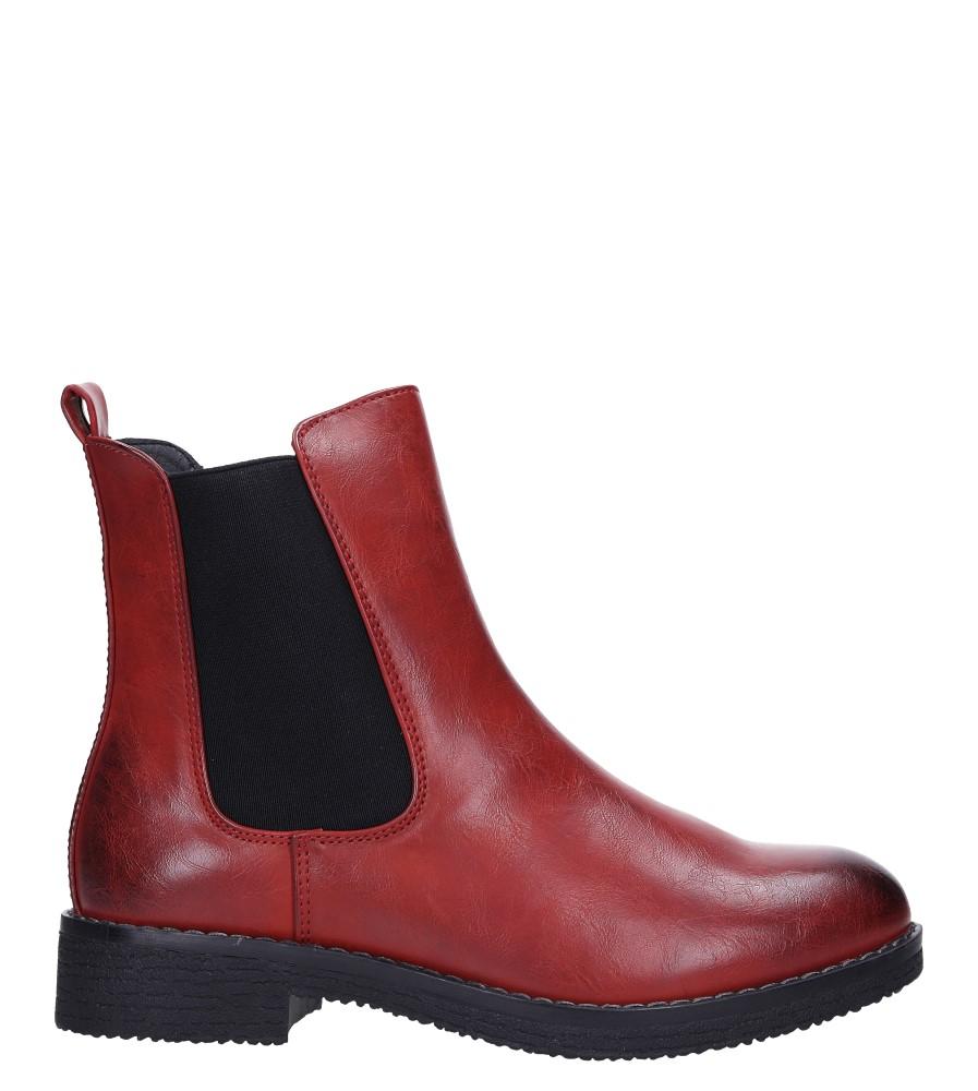 Czerwone botki sztyblety z gumkami Jezzi 9BT35-1489 wys_calkowita_buta 18 cm